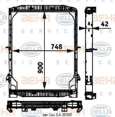 IVECO BEHR /HELLA radiator de racire pentru motoare pentru IVECO EUROSTAR/TECH/TRAKKER autotractor nou
