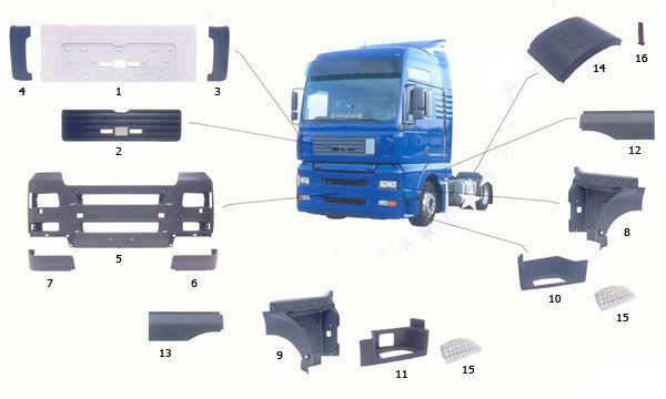 MAN 81615100399. 81615100401,81615100400 scară pentru MAN TGA camion nou