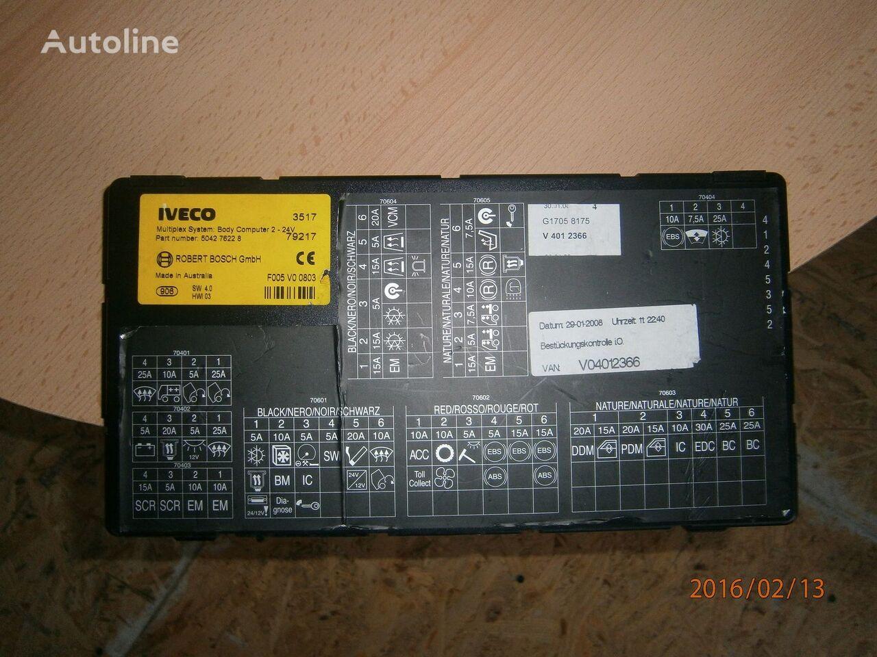 Iveco Stralis EURO5 Multiplex system body computer 504276228 unitate de control pentru IVECO Stralis autotractor