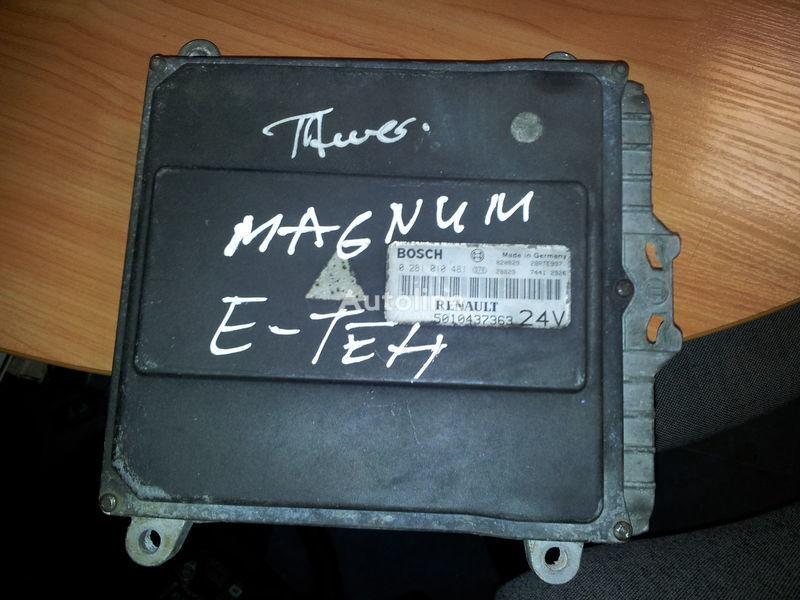 RENAULT engine computer EDC, ECU, 5010437363, BOSCH 0281010481 unitate de control pentru RENAULT Magnum E-TECH  autotractor