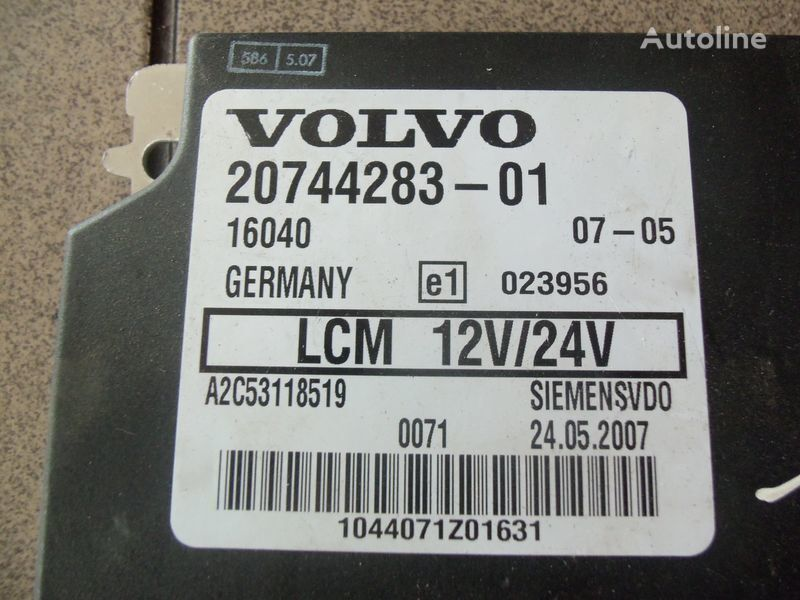 VOLVO FH12, LCM control unit, lightning 20744283, 20514900, 85108922, 20744286, 20865208, 85115541, 20815236, 85110015 unitate de control pentru VOLVO FH12 autotractor