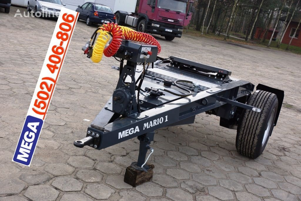 MEGA 1 Achse Dolly fur Kipper / Hydraulik Pumpe / FERTIG  remorcă dolly nou