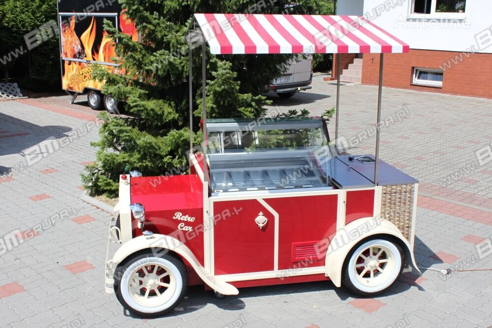 remorcă pentru comerţ BMgrupa stand w stylu retro, stoisko gastronomiczne, catering trailers nou