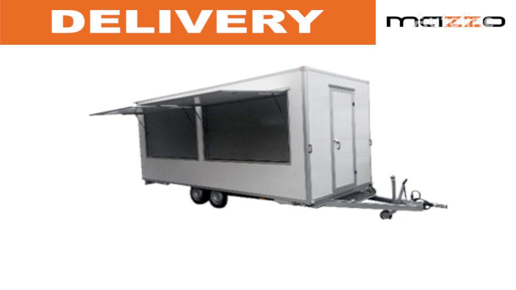 remorcă pentru comerţ Food Trailer 500x200x230cm /Catering/Street Food/ nou