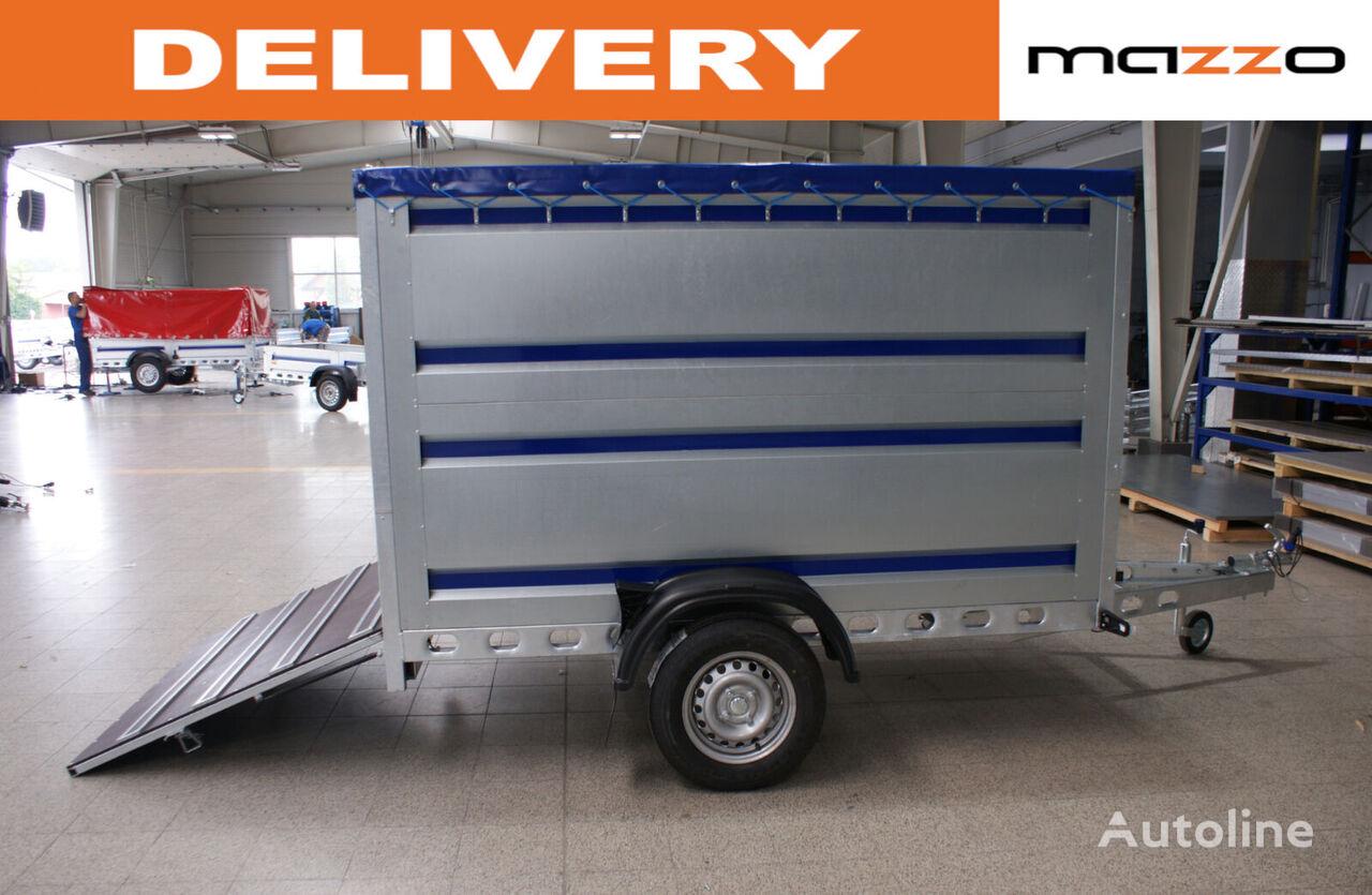 remorcă transport animale GVW 750kg 242x142x140cm spring-loaded ramp nou