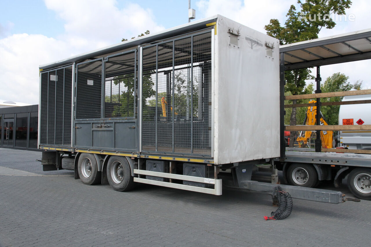 remorcă transport animale TRANSPORT OF ANIMALS/BIRDS/ HEN/18 T KONAR JG