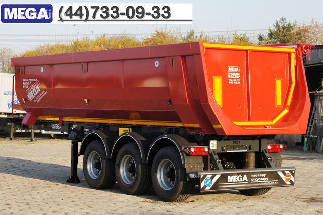 KARGOMIL 25 - 28 m³ HALF-PIPE / steel tipper - DOMEX 5/7 mm / SUPER STRON semiremorcă basculantă nouă