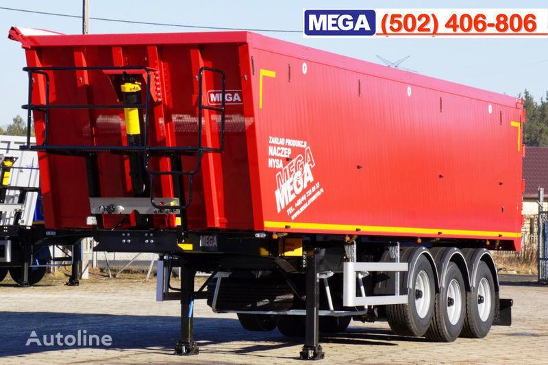 MEGA 45 m³ - alum. tipper SUPER-LIGHT - 5,300 KG & hatch door - READY semiremorcă basculantă nouă