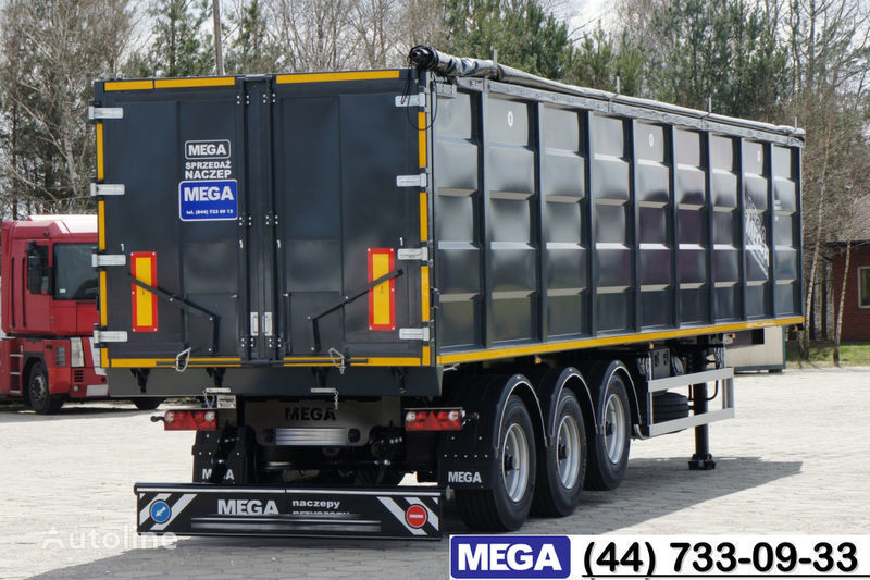 MEGA 55 M³ DOMEX/OPTIM 650 STEEL TIPPER / HATCH-DOOR & GRAINHOLES !! semiremorcă basculantă nouă