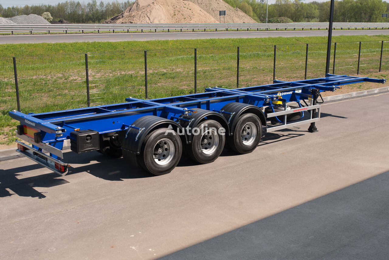 GRUNWALD Versatile heavy duty container semitrailer semiremorcă pentru transport containere nouă