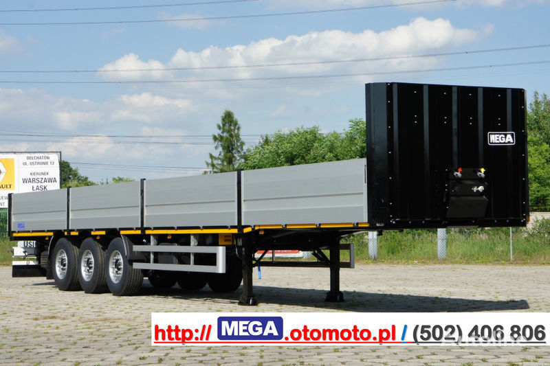 MEGA MNS 22,5 - PLATFORM & ALUSIDES 800 MM /  STRONG  FRAME DOMEX650 semiremorcă platformă cu obloane nouă