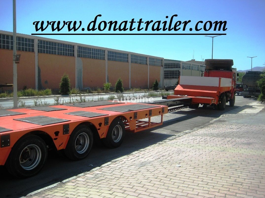 DONAT Extendable 4 Axle Lowbed Semitrailer semiremorcă transport agabaritic