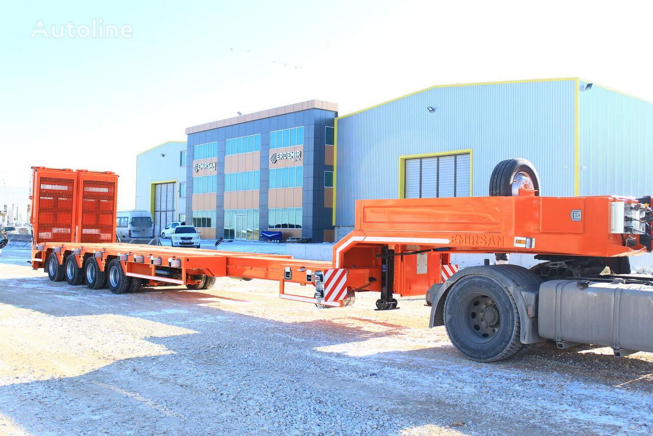 semiremorcă transport agabaritic EMIRSAN 4 AXLE LOWBED EXTENDABLE nouă