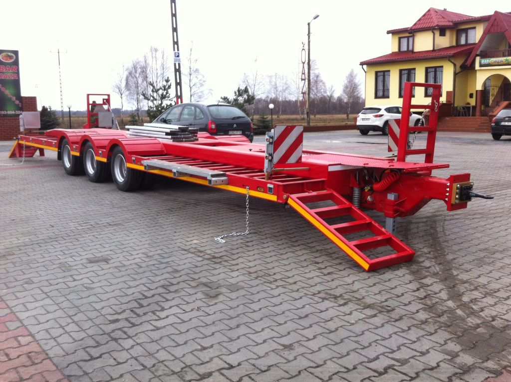 EMTECH Rolnicza 3 osiowa do przewozu maszyn semiremorcă transport agabaritic nouă