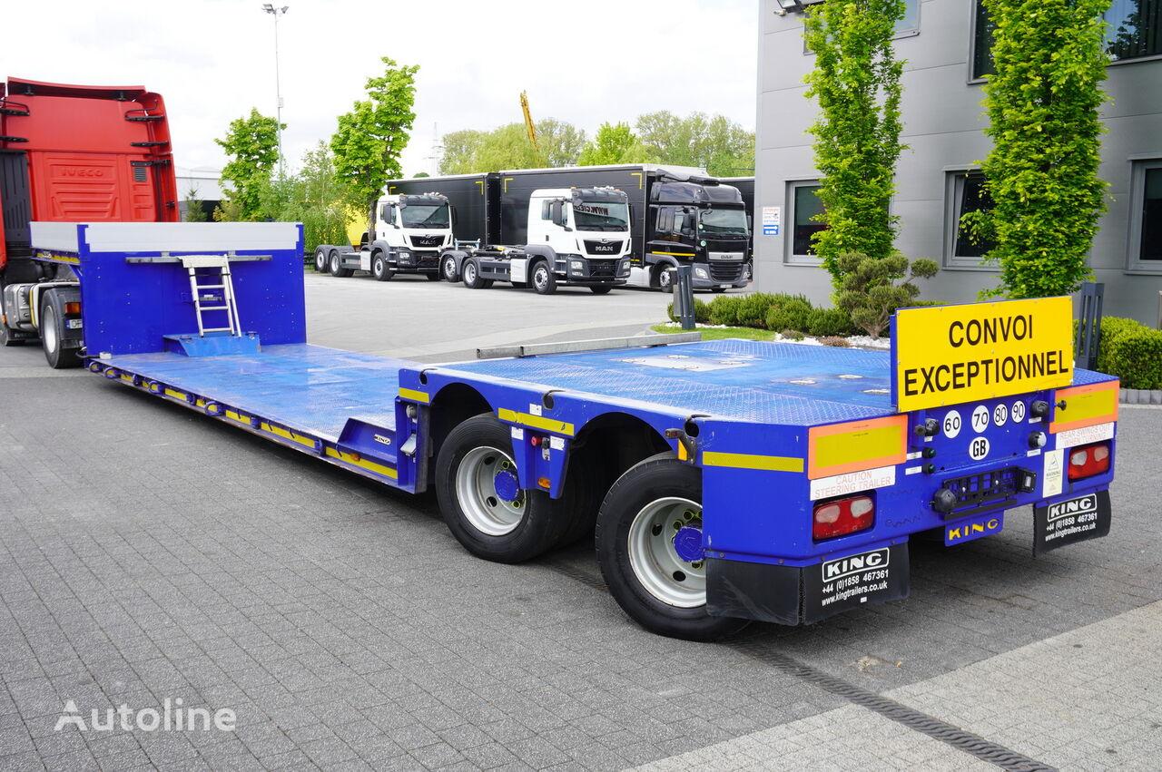 semiremorcă transport agabaritic KING lowered semi trailer , 2 hydraulic steer axles , remote control