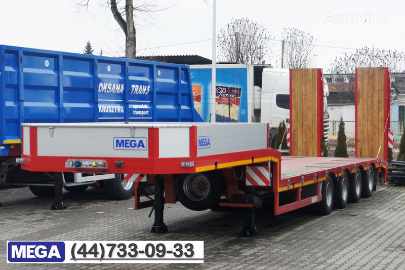 MEGA 4 AXEL FLATBED / HYDRAULIC RAMPS / UP TO 45 T! semiremorcă transport agabaritic nouă