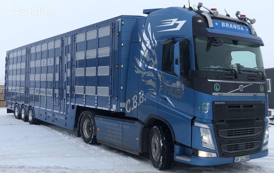 semiremorcă transport animale PLAVAC 3+4 nouă
