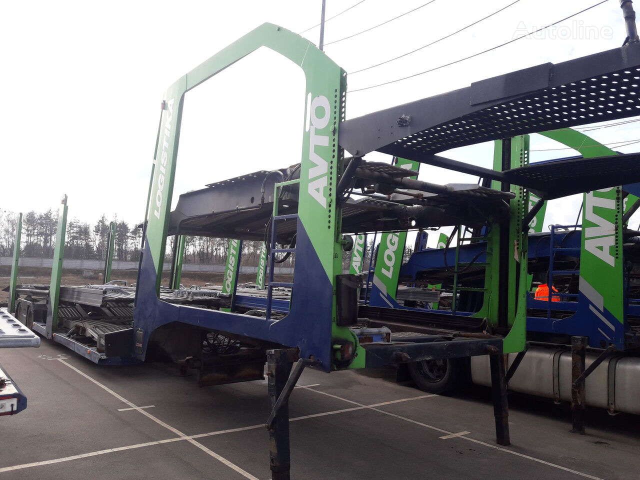 semiremorcă transport auto LOHR Eurolohr 1.23 E