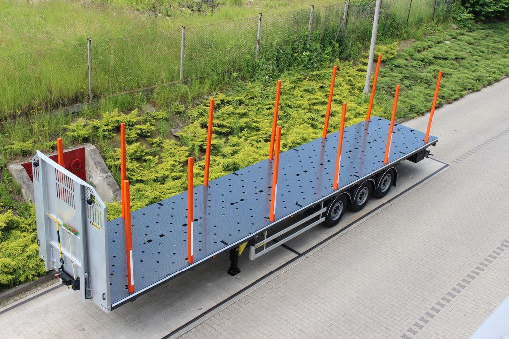 ZASLAW TRAILIS 651.NL.13.PK[without stakes] semiremorcă transport de lemne nouă