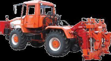 Universalnaya putevaya mashina UPM-1M na baze traktora HTA-200  tractor cu roţi