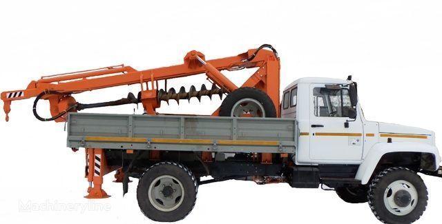 BKM ZU Burilno-kranovaya mashina BKM-3U na avtomobilyah GAZ 33081 («Sa alte mașini de construcții