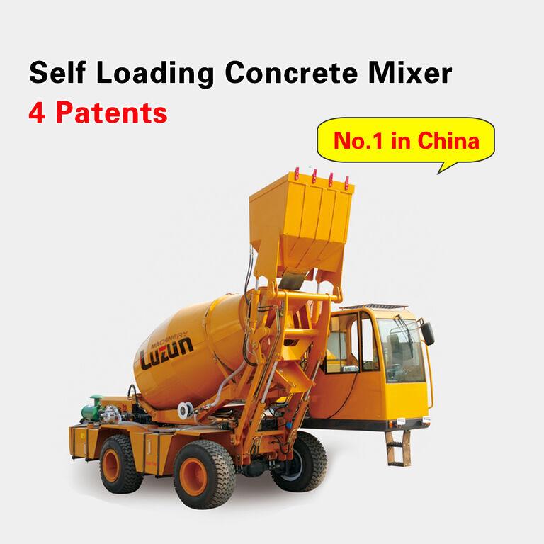 excavator aspirator selfloading concrete mixer nou