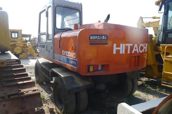 HITACHI EX100WD excavator pe roţi