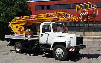 ZIL AP-18 nacelă pe camion