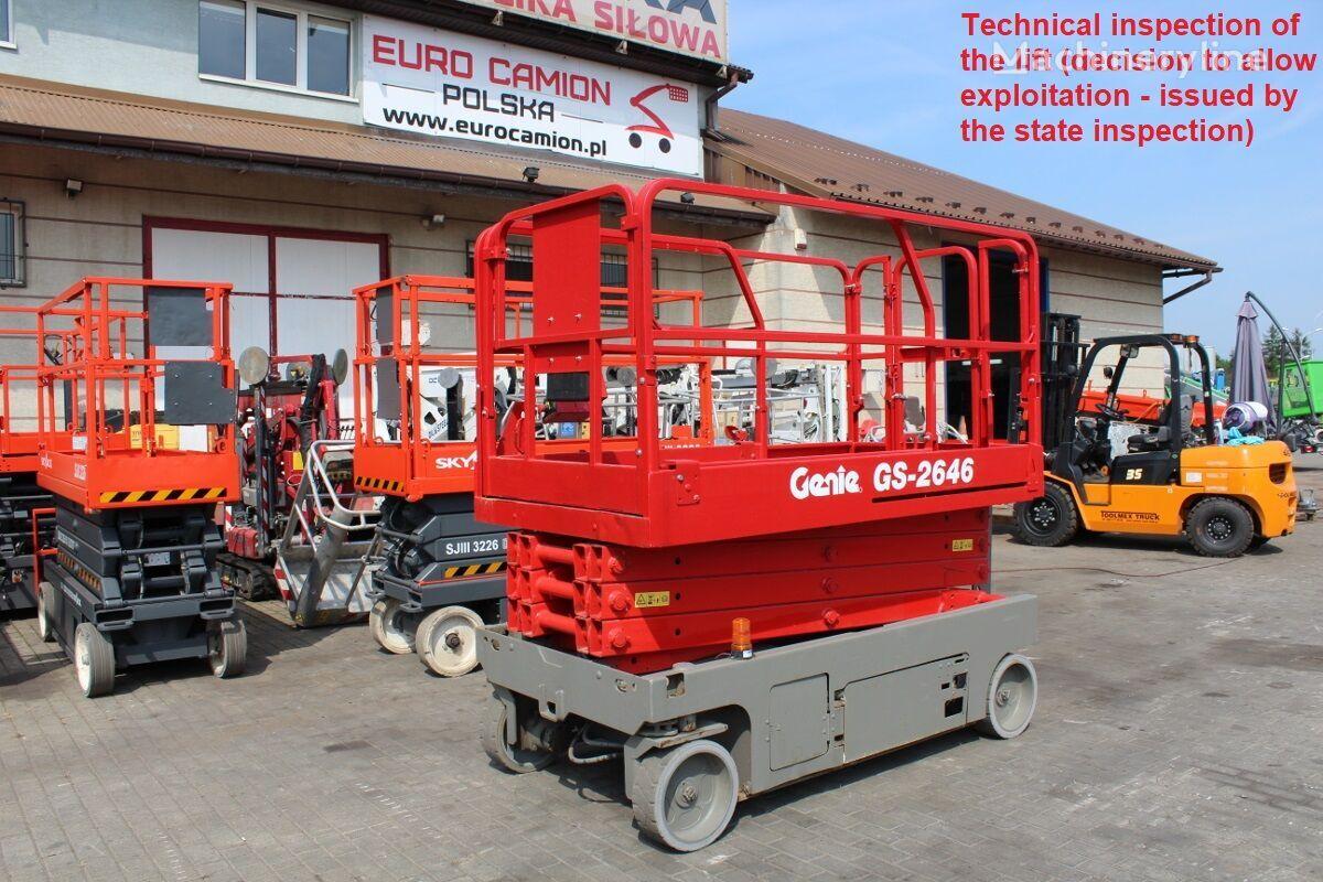 platforma foarfeca GENIE GS 2646 - 10 m technical inspection (jlg es, haulotte compact 10