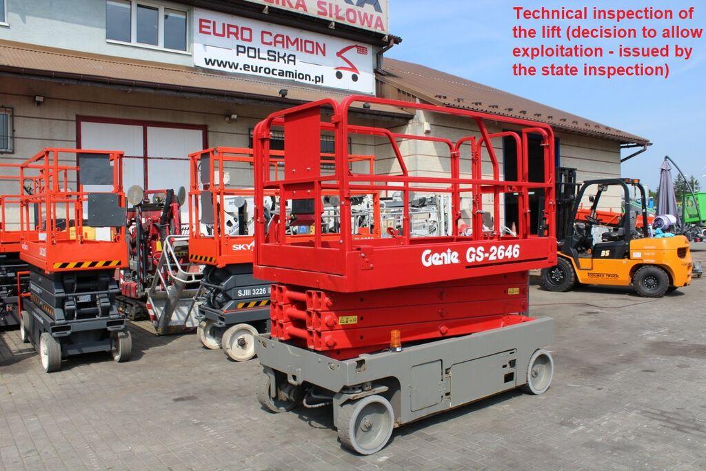 platforma foarfeca GENIE GS 2646 ( technical inspection )