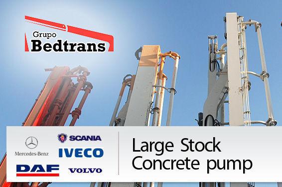 PUTZMEISTER THE BEST STOCK THE CONCRETE PUMPS IN SPAIN BEDTRANS pompă de beton
