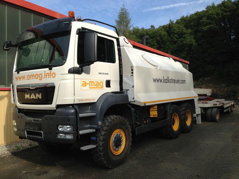 MAN TGS spreader 33.440 - 6x6 reciclare asfalt nou