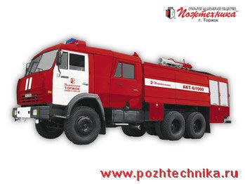 KAMAZ AKT-6/1000-80/20 Avtomobil kombinirovannogo tusheniya   mașină de pompieri