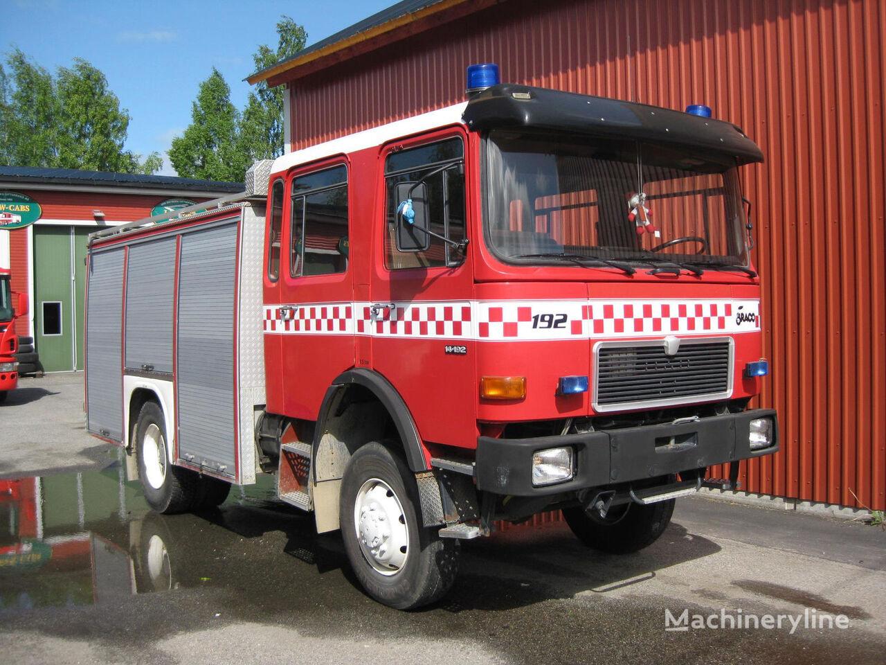 MAN 14-192, 4x4 WD mașină de pompieri